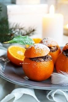 Pomysł na świąteczny deser- Prosty mus czekoladowy w mandarynkowych miseczkach <3 kliknij w zdjęcie i zobacz przepis