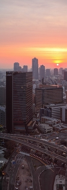 Sunrise from the Park Hotel Tokyo, Japan