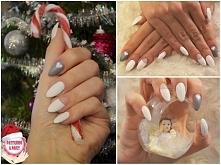Świąteczny manicure :) w roli głównej sweterki czyli knitted nails :)