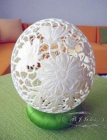 jajo strusie - ostrich egg ... Emotikon smile This ostrich egg made by Bogusł...