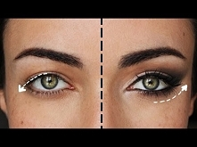 Makijaże dla opadającej powieki, powiększające oko.