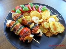 Paleo od kuchni: Szaszłyki wieprzowe z pieczonymi ziemniakami