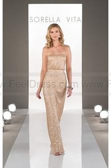Sorella Vita Gold Sequin Bridesmaid Dress Style 8690