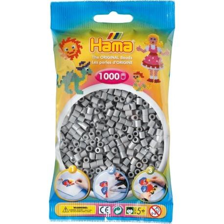 Poniedziałek:)   Hama 207-17 to aż 1000 Popielatych koralików w rozmiarze midi 5mm w woreczku do zaprasowania czy naklejania dla Dzieci od lat 5.   Ułóż swój własny wzór taki jak gwiazdy, planety, konie, serca lub wiele, wiele innych.  Sprawdźcie sami:)  Pomoc rodziców obowiązkowa!  #hama #koralikihama #hamamidi #zabawki #niczchin #krakow
