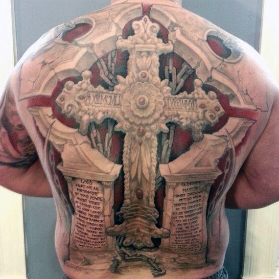 Tatuaże Religijne Krzyż 3d Na Tatuaże Zszywkapl