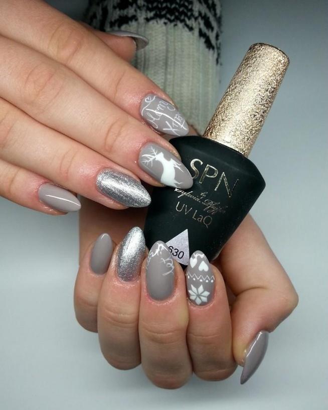 świątecznie Nails By Roksana Miszewska Malu Malu Na Make Up Itp
