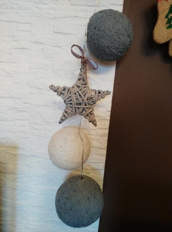 cotton balls na świątecznie ( :