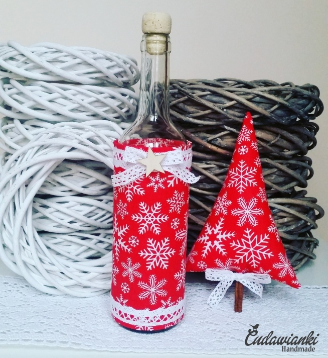 butelka dekoracyjna choinka z cynamonem kontakt@cudawianki.net.pl