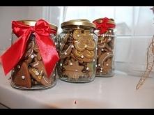 Pomysł na prezent świąteczny dla najbliższych / Słoiczki na pierniczki/ DIY