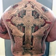 tatuaże religijne krzyż 3d