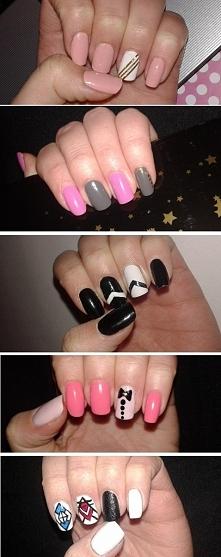 Mała inspiracja dla innych, takie moje paznokcie :)