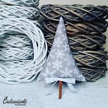 szara choinka w śnieżynki z cynamonem kontakt@cudawianki.net.pl