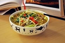 Wietnamska zupa z wieprzowiną i nudlami.
