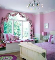 Pokój dla dziewczynki w amerykańskim stylu to pokój dla księżniczki - stylizo...