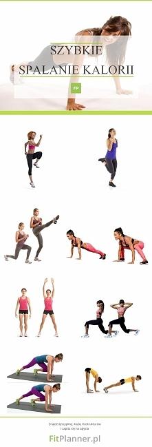 Ćwiczenia na szybkie spalanie kalorii ! ❤️   WYKONANIE: Wykonaj każde ćwiczen...