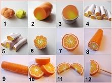 pomarańcza z modeliny (lizaki)