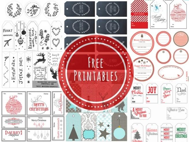 Free Printables. Etykiety prezentowe do pobrania.