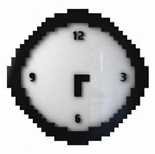 Pikselowy zegar prezent do twojego mieszkania.