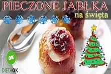 Zapiekane jabłka z żurawiną, pomysł na świąteczny stół.  Przepis tutaj:  diet...