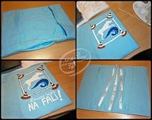 Szyta i ręcznie malowana okładka na zeszyt. Jak powstawała? Sprawdźcie na blogu adzik-tworzy.blogspot.com (albo po prostu KLIKnijcie w zdjęcie ;)