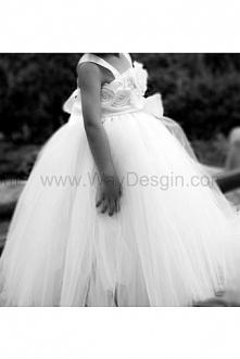 Flower Girl Dress White tutu dress baby dress toddler birthday dress wedding dress