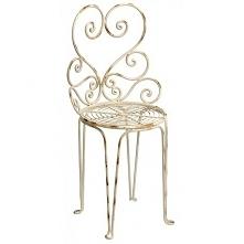 Metalowe krzesło z serii Luna renomowanej marki Belldeco. Delikatne postarzen...