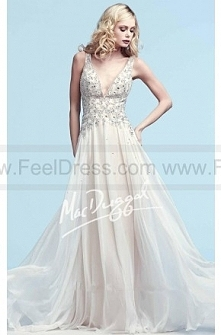 Ethereal gown with beaded t...