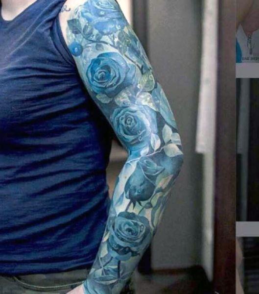 Tatuaże Damskie Róże Na Ręce Na Tatuaże Zszywkapl