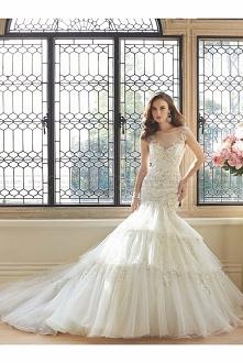 Sophia Tolli Style Y11648 - Majestas Sleeveless misty tulle trumpet wedding d...