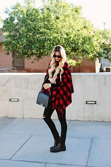 OOTD: the Red Checkered Cape