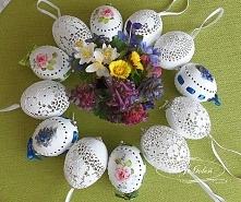 ażurowe pisanki na jajkach kurzych
