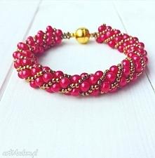 czerwona perłowa złota bran...