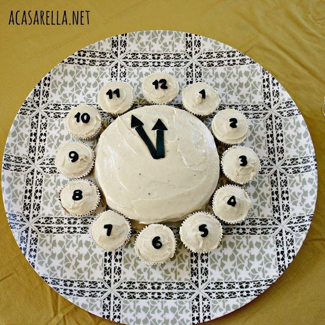 Zaskocz znajomych sylwestrowym tortem w kształcie zegara :)