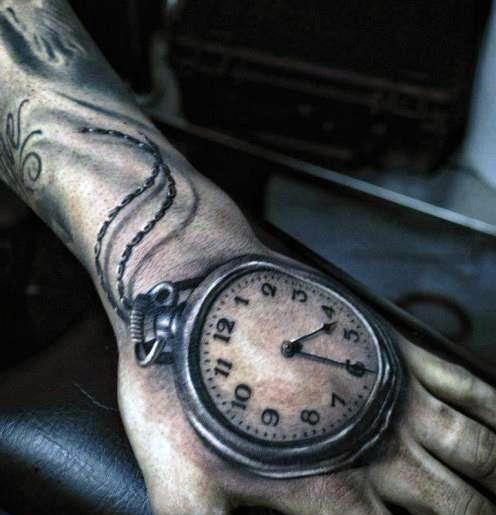 Tatuaże Na Dłoni Zegar 3d Na Tatuaże Zszywkapl