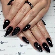 Głęboka czerń!!! Nails by Ola, Beautica, SPN Nails Tean