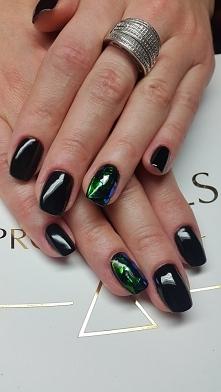 Szklane paznokcie.  Sylwestrowy hit od SPN Nails.  Nails by Ilona, SPN Nails,...