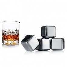 Kostki chłodzące do whisky, stalowe - Vacu Vin