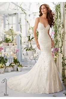 Mori Lee Wedding Dresses Style 5415 lace bridal gown
