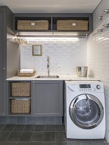 Jak wygląda wnętrze pralni w amerykańskim domu? Jak urządzić pralnię? Gdzie w domu usytuować pralnię? Jaki design wybrać do pralni w swoim domu? Zobacz i zainspiruj się! Pomysły...