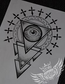 dotwork drawing tatuaż projekt