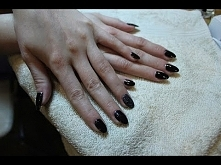 Czarne paznokcie sylwestrowe / Cosmetics Zone 033/ M&A Beauty