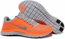Mens Nike Free Run 3.0 V4 Orange Charcoal Grey Running Finish Line Shoes On Sale