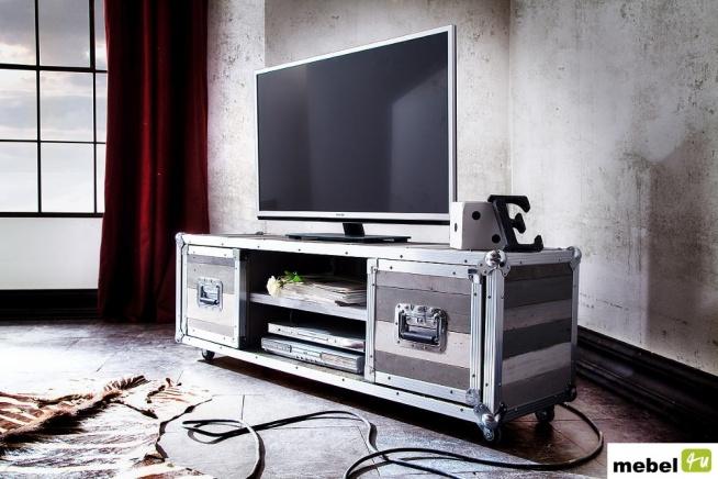 Szafka RTV LOFT z kolekcji mebli LOFT to rozwiązanie dla osób poszukujących niebanalnych, nowoczesnych mebli, odważnych wzorów i rozwiązań. Więcej po kliknięciu w foto
