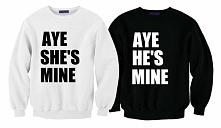 bluzy aye she's mine i aye he's mine ; bluzy dla par ; bluzy dla dw...