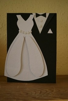 Prosta kartka na ślub