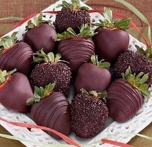 Strawberries covered in chocolate