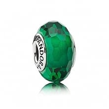 Pandora Green Faceted Murano Charm Cheap