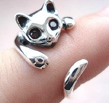 Pierścionek kotek - 8,99zł