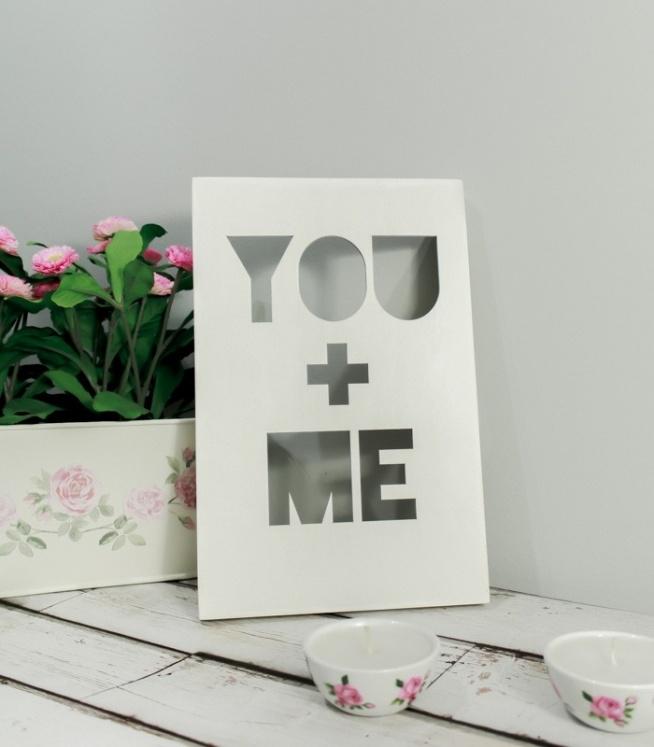 Drewniany Plakat 3D - you+me