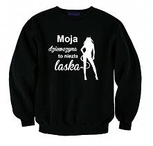 czarna męska bluza ze śmiesznym nadrukiem - zabawna bluza z kolekcji BLUZY DL...